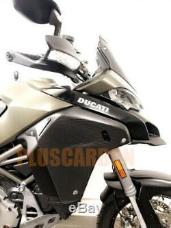 Side Panels Ducati Multistrada 1200 Enduro Twill Carbon Fiber Side Covers Matt
