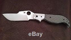 Spyderco Navaja C147CF Rare Twill Carbon Fiber, Ed Schempp Masterpiece Mint NIB