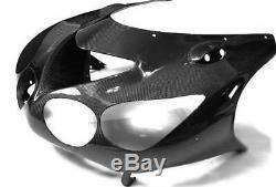 TWILL MATT Kawasaki Carbon Fiber ZZR1400 ZX14 2006 2011 Upper Front Nose Fairing