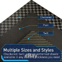 Thick Carbon Fiber Plate 100% Space Grade Sheet 12x12 Panel Made in USA