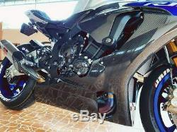 YAMAHA R1 R1M RACE BELLY PAN LOWER FAIRINGS GLOSSY TWILL RPM Carbon