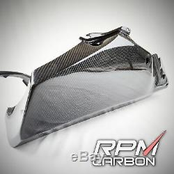 YAMAHA R6 2017+ RACE BELLY PAN LOWER FAIRINGS GLOSSY TWILL RPM Carbon