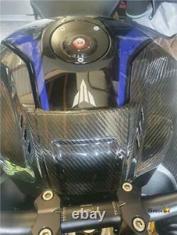 Yamaha Mt10 Carbon Fibre Tank Centre Trim In Twill Gloss Fibre
