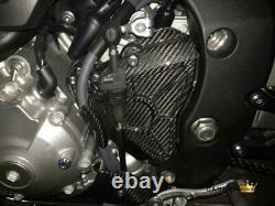 Yamaha Mt10 & R1 2015 On Carbon Sprocket Cover In Twill Gloss Weave Fibre Fiber