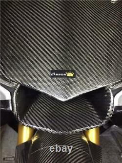 Yamaha R1 2015 -19 Carbon Front Nose Panel R1m In Twill Gloss Weave Fiber Fibre