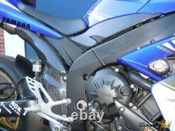 Yamaha R1 Carbon Exhaust Heat Shield 2007 2008 In Twill Gloss Weave Fiber Fibre