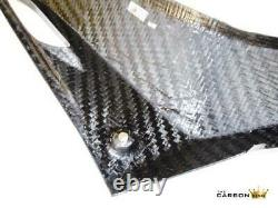 Yamaha Yzfr125 Carbon Side Fairing Infill Panels In Twill Gloss Weave Fibre