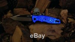 Zero Tolerance ZT0393 Full Glowing Blue Twill Scales (Knife NOT INCLUDED)