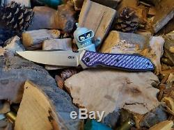 Zero Tolerance ZT0640 Purple Twill Scales (Knife NOT INCLUDED)