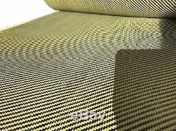 12 X 25 Ft Tissu Réalisé Avec Kevlar-fibre De Carbone Fabric Twill -3k / 200g / M2