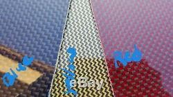12x72x1 / 4 2x2 Double Sergé En Fibre De Carbone En Fibre De Verre Plaque Feuille Brillant Un Côté