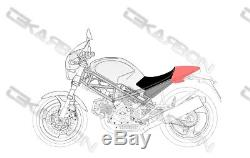 1995 2008 Housse De Siège Ducati Monster Carbon Fiber Cowl 2x2 Twill Red Edition