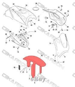 1998 2002 Buell X1 Lightning De Fibre De Carbone Garde-boue Avant Boue Garde 2x2 Sergé