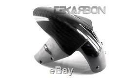 2005 2006 Kawasaki Zx6r / Zx10r Fender Avant En Fibre De Carbone 2x2 Twill Weave