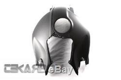 2005 2012 Bmw K1200r / K1300r En Fibre De Carbone Couvercle Du Réservoir 2x2 Sergé Mat