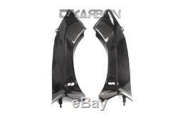 2006 2007 Kawasaki Zx10r Couvertures D'admission D'air En Fibre De Carbone 2x2 Armures Sergé