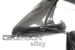 2006 2007 Suzuki Gsxr 600/750 Grandes Carénages Latéraux En Fibre De Carbone 2x2 Twill