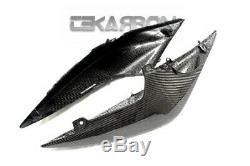 2007 2011 Kawasaki Z750 Carbon Fiber Tail Carénages Latéraux Arrière Couverture Sergé 2x2