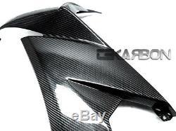 2008 2009 Kawasaki Zx10r Fibre De Carbone Grands Carénages Latéraux 2 X 2 Tressages Tissés
