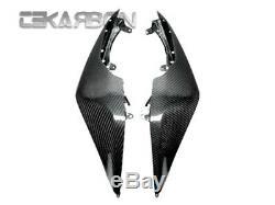 2008 2010 Kawasaki Zx10r Carénages Latéraux En Fibre De Carbone Tissage 2x2 Sergé