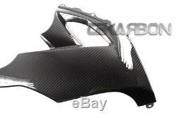 2008 2010 Kawasaki Zx10r Carénages Latéraux Inférieurs En Fibre De Carbone Tissés 2x2 Sergé
