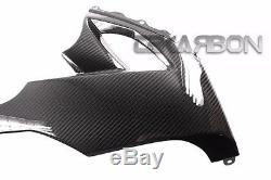 2008 2010 Kawasaki Zx10r Fibres Latérales Inférieures En Fibre De Carbone 2x2 Sergé
