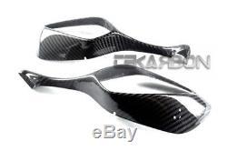 2008 2011 Honda Cbr1000rr Carbon Fiber Mirror Couvre 2x2 Sergé Tisse