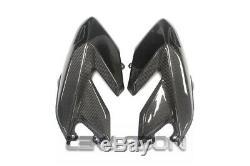 2008 2012 Ducati Hypermotard 796 1100 Carbon Fiber Grand Side Carénages Sergé