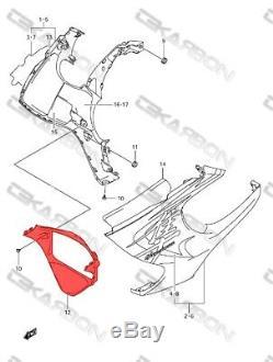 2008 2013 Suzuki Hayabusa Gsx1300r En Fibre De Carbone V Panneau Twill 2x2
