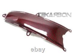 2008 2014 Ducati Monster 696 1100 796 En Fibre De Carbone Réservoir Inférieur Couverture Rouge Sergé