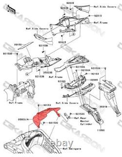 2009 2012 Kawasaki Zx6r Arrière En Fibre De Carbone Hugger Fender 2x2 Twill Tissages