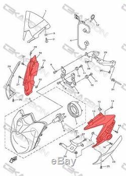 2011 2012 2013 Carénages Latéraux De Phare Yamaha Fz8 En Fibre De Carbone, Tissage En Sergé 2x2