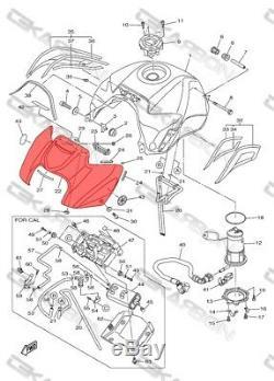 2011 2012 2013 Yamaha Fz8 Réservoir Avant En Fibre De Carbone Couverture 2x2 Twill Tissages