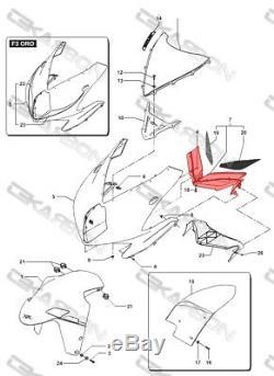2012 2015 MV Agusta F3 En Fibre De Carbone Nez Carénage 2x2 Twill Tissages