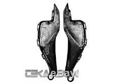 2012 2016 Honda Cbr1000rr Panneaux De Réservoir Latéraux En Fibre De Carbone Tissés En Sergé 2x2