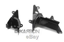 2012 2016 Kawasaki Zx14r En Fibre De Carbone Moyen Intérieur Panneaux Latéraux 2x2 Sergé