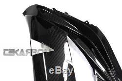 2012 2016 Kawasaki Zx14r Fibre De Carbone Grandes Carénages Latéraux 2x2 Twill Weave