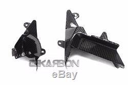 2012 2016 Kawasaki Zx14r Fibre De Carbone Panneaux Latéraux Intérieurs Intermédiaires 2x2 Sergé