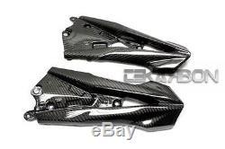 2013 2014 Kawasaki Z800 Panneaux De Carénage Latéraux En Fibre De Carbone 2x2 Twill Weaves