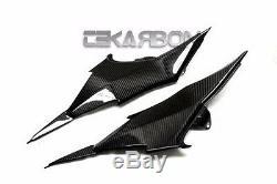 2013 2014 Kawasaki Z800 Panneaux En Fibre De Carbone Côté 2x2 Tissage Sergé
