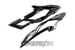2013 2014 Triumph Daytona 675 Panneaux En Fibre De Carbone Side Carénage 2x2 Sergé