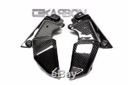 2013 2016 Kawasaki Z800 Avant De Fibre De Carbone Panneaux Latéraux 2x2 Twill Weave