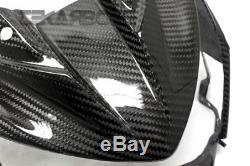 2013 2016 Kawasaki Z800 Carbon Fiber Avant Carénage 2x2 Sergé Armure