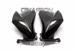 2013 2016 Kawasaki Z800 Carbon Fiber Grandes Carénages Latéraux 2x2 Sergé Armure
