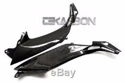 2013 2016 Kawasaki Z800 Fibre De Carbone Côté Inférieur Réservoirs Panneaux 2x2 Twill Tisse