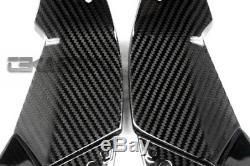 2013 2016 Kawasaki Zx6r Couvertures D'admission D'air En Fibre De Carbone 2x2 Sergé Weaves