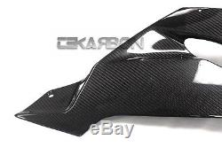 2013 2016 Kawasaki Zx6r Fibres De Carénage Inférieur En Fibre De Carbone 2x2 Armures Sergé