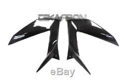 2013 2016 Kawasaki Zx6r Panneaux De Carénage Latéraux En Fibre De Carbone 2x2 Twill Weaves