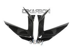 2013 2018 Kawasaki Zx6r Panneaux Latéraux Carénage En Fibre De Carbone En Twill Tissages