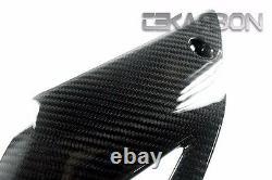 2014 2016 Kawasaki Z1000 En Fibre De Carbone Inférieur Carénages Latéraux 2x2 Sergé Tissages